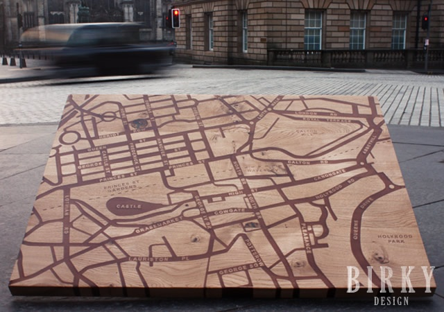 Edinburgh Map table | Image courtesy of BIRKY DESIGN