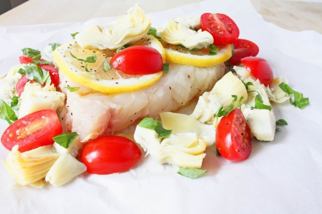 Halibut al cartoccio
