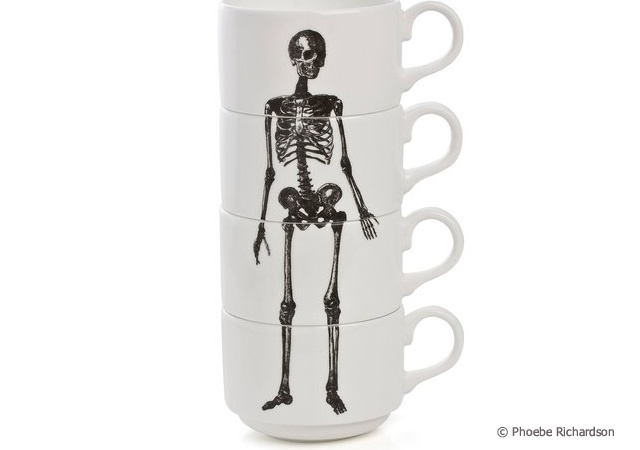 Skeleton espresso cups | Image courtesy of Phoebe Richardson