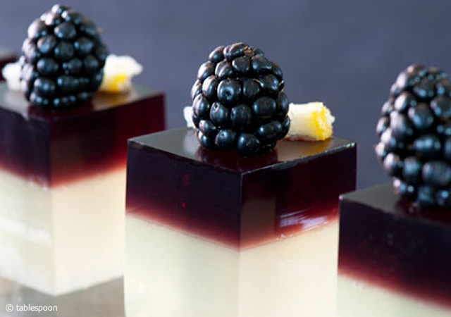 Bramble jelly shot