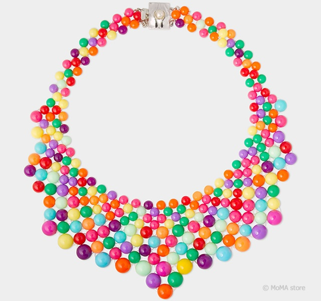 Audrey multicolor necklace | Image courtesy of MoMA store