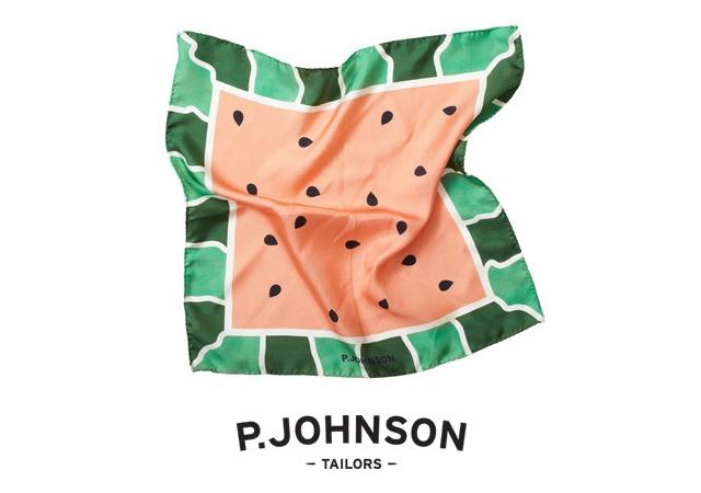 Fruit series pochettes | Image courtesy of P.Johnson Tailors