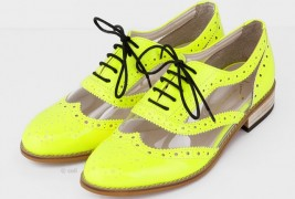 Fluo derby shoes - thumbnail_2