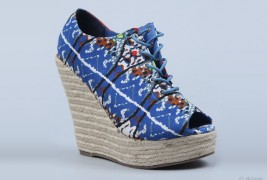 Lace up ethnic wedges - thumbnail_1