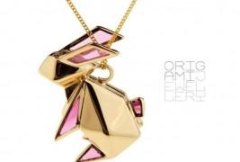 Origami rabbit necklace - thumbnail_1