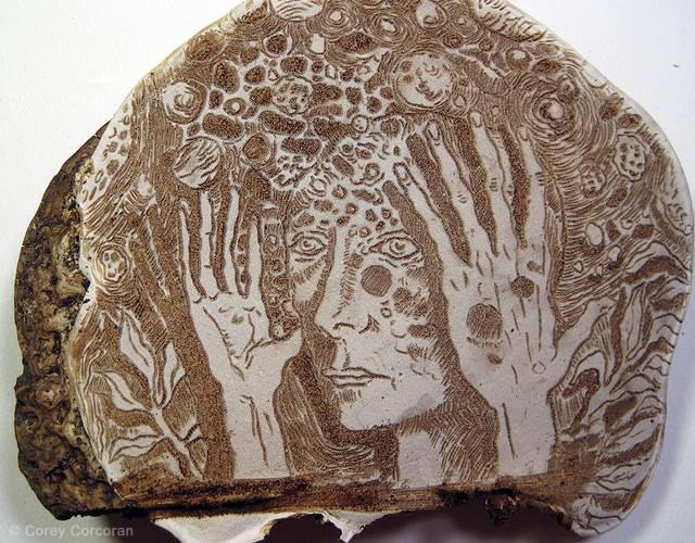 Mushroom art | Image courtesy of Corey Corcoran