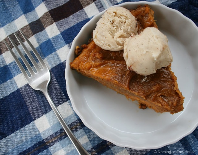 Sweet potato speculoos pie