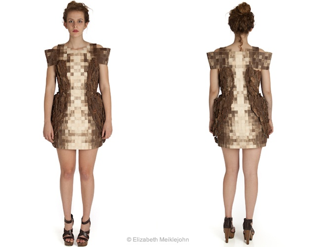 Elizabeth Meiklejohn wood dress