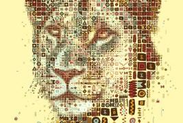 Lions mosaic portraits - thumbnail_2