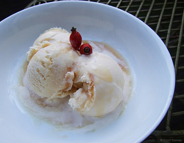 Rosehip Ripple Ice Cream | Image courtesy of Food Stories