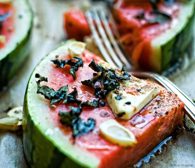 Spicy watermelon slices
