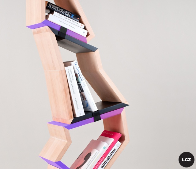 Chopped tree bookshelf | Image courtesy of Lenka Czereova, Allt
