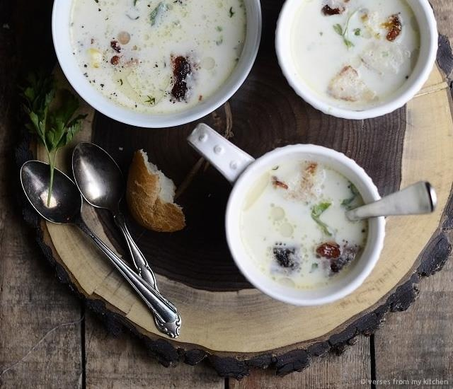 Parsley Root and Chestnut Soup | Image courtesy of Verses from my kitchen