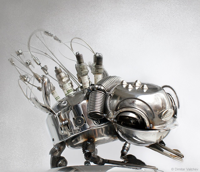Mechanical insect sculptures | Image courtesy of Dimitar Valchev