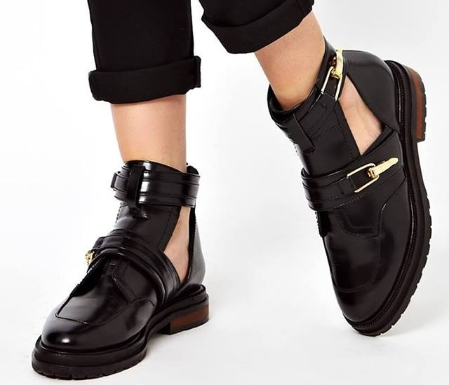 Asos cut out boots