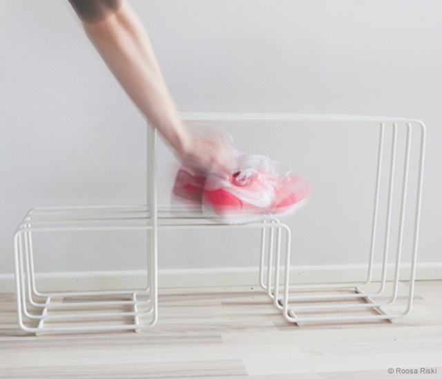 Flou shoe rack | Image courtesy of Roosa Riski, Antti Sepponen