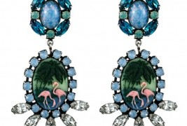 Dannijo Pete flamingo earrings - thumbnail_2