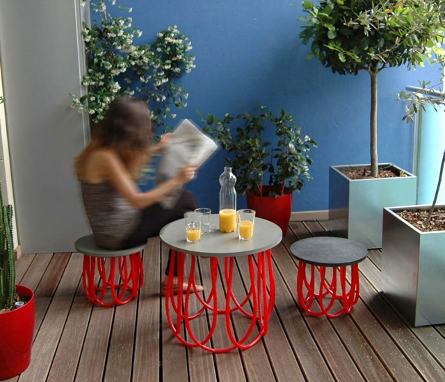 Marta table and stool